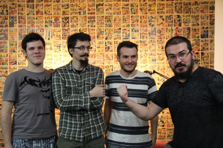 Erick Carkes, Luciano Salles, eu e Daniel Lopes mostrando toda sua força